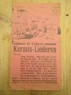 Kermis Liederen Roosendaal Frans Rombouts 6 Blz Foor 1930 - Programme