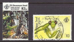 Zil Elwannyen Sesel / Seychelles - 1987 - 1988 Tourism, Forest, Palm Trees, Vallee De Mai, Insects - Used - Seychellen (1976-...)