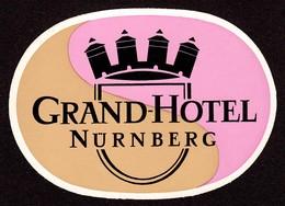 "Hotelaufkleber Etiquette Pour Valise "" Bayern Nürnberg Grand-Hotel "" Kofferaufkleber Luggage Label Adesivi Per Hotel - Adesivi Di Alberghi"