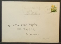 Kenya - Cover To England 1987 Flowers 70c Solo Mombasa - Kenia (1963-...)