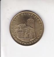 Medaille Jeton Touristique Monnaie De Paris MDP  Montmartre Eglise Saint Pierre 2003 - Monnaie De Paris