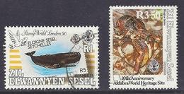 "Zil Elwannyen Sesel / Seychelles 1990 - 1992 Marine Life, Whale ""London '90"" Aldabra Heritage Site, Birgus Latro - Used - Seychellen (1976-...)"