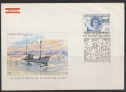Oostenrijk  31-10-1980  FDC  Alfred Wegener In Groenlands Ijs - FDC