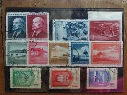 CINA - 4 Serie Complete Anni '50 - Timbrate + Spese Postali - Usati