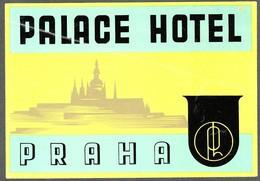 "Hotelaufkleber Etiquette Pour Valise "" Prag Praha Palace Hotel "" Kofferaufkleber Luggage Label Adesivi Per Hotel - Adesivi Di Alberghi"