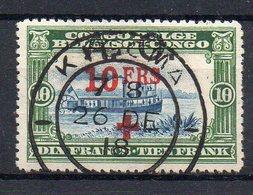 CONGO BELGE : N° 80 . OBL . CROIX ROUGE . TB . 1818 . ( CATALOGUE YVERT ) . - 1884-1894 Precursores & Leopoldo II
