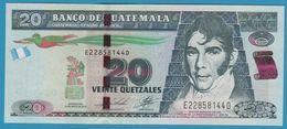 GUATEMALA 20 Quetzales 14.05.2014  Serie E228581xxD  P# 124 - Guatemala