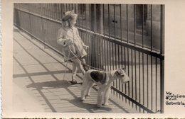 DC1979 - Grafenberg Foto Karte Kleines Mädchen Im Kleid Hund An Der Leine - Other