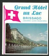"Hotelaufkleber Etiquette Pour Valise "" Suisse Brissago Grand Hotel Lac "" Kofferaufkleber Luggage Label Adesivi Per Hotel - Adesivi Di Alberghi"