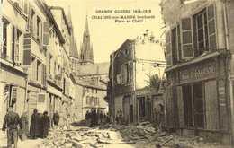 GRANDE GUERRE 1914 1918  CHALONS Sur MARNE Bombardé  Place Du Chétif  Maison E LACOSTE   RV - Châlons-sur-Marne