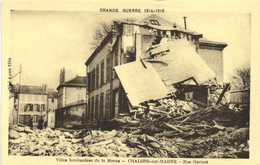GRANDE GUERRE 1914 1918  CHALONS Sur MARNE Bombardé  Rue Garinet   RV - Châlons-sur-Marne