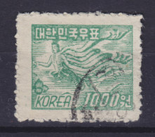 South Korea 1951 Mi. 94     1000 W 'Fliegender Engel' Angel Eine Der Vier Gottheiten - Korea (Süd-)