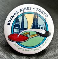 = ARGENTINE 2018 - Badge De Buenos Aires à Tokyo - Jeux Olympiques Jeunesse - Tennis Table Tischtennis Tavolo - Tenis De Mesa