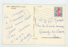 "FRANCE - - N° Yt 1233 Obli. FLAMME AMBULANT ""LE CROISIC À NANTES"" DU 3/8/1960 - Railway Post"