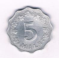 5 MILS 1972  MALTA  /3993/ - Malta
