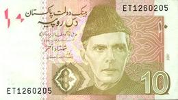 Pakistan P.45b 10 Rupees 2007 Unc - Pakistan