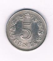 5 CENTS 1972  MALTA  /3994/ - Malta
