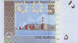 Pakistan P.53a 5 Rupees 2008 Unc - Pakistan