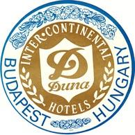 "Hotelaufkleber Etiquette Pour Valise ""Budapest Duna Intercontinental"" Kofferaufkleber Luggage Label Adesivi Per Hotel - Adesivi Di Alberghi"
