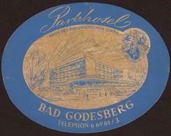 "Hotelaufkleber Etiquette Pour Valise ""Bad Godesberg Park-Hotel"" Kofferaufkleber Luggage Label Adesivi Per Hotel - Adesivi Di Alberghi"