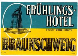 "Hotelaufkleber Etiquette Pour Valise ""Braunschweig Frühlingshotel Kreye"" Kofferaufkleber Luggage Label Adesivi Per Hotel - Adesivi Di Alberghi"