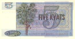 Myanmar Burma P.57 5  Kyats 1973  Unc - Myanmar