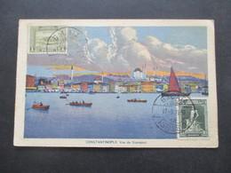 Türkei 1930 Bildseitig Frankierte AK Constantinople Vue De Stamboul Stempel Galata Nach Jugoslawien Gesendet - Briefe U. Dokumente