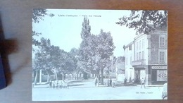 CARTE POSTALE ANCIENNE - DORDOGNE 4 - L'ISLE - PLACE DES TILLEULS - ANIMEE - Francia
