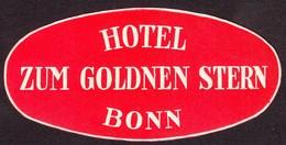 "Hotelaufkleber Etiquette Pour Valise "" Bonn Hotel Zum Goldenen Stern "" Kofferaufkleber Luggage Label Adesivi Per Hotel - Adesivi Di Alberghi"