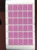 Belgie 1966 EUROPA CEPT Ship 1390 FULL SHEET Plaatnummer 3 - Full Sheets