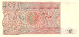 Myanmar  P.67 1  Kyat 1990  Unc - Myanmar