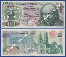 MEXICO 10 Pesos 1977 M.HIDALGO And DOLORES CATHEDRAL - Mexiko