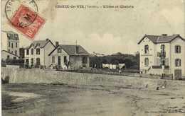 CROIX DE VIE  (Vendée) Villas Et Chalets + Timbre 10 Surchargé F.M. RV - Saint Gilles Croix De Vie