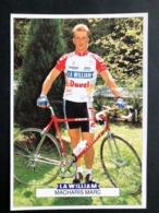 Marc Macharis - La William Duvel Chesini - 1992 - Carte / Card - Cyclists - Cyclisme - Ciclismo -wielrennen - Ciclismo