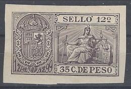 Cuba Fiscales Poliza 1898 - Cuba (1874-1898)