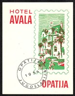 "Hotelaufkleber Etiquette Pour Valise "" Yougoslavia Opatija Hotel Avala "" Kofferaufkleber Luggage Label Adesivi Per Hotel - Adesivi Di Alberghi"