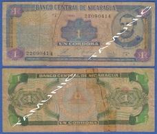 NICARAGUA 1 Cordoba 1990 FRANCISCO HERNANDEZ DE CORDOBA And COAT OF ARMS - Nicaragua