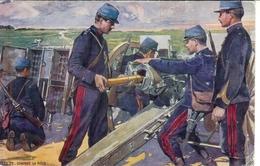 Cpa Canon De 75 Chargez La Pièce Publicité Dubonnet , écrite 1914 * Ma Fille - Guerra 1914-18
