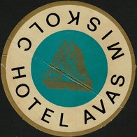 "Hotelaufkleber Etiquette Pour Valise "" Hongrie Miskolc Hotel Avas "" Kofferaufkleber Luggage Label Adesivi Per Hotel - Adesivi Di Alberghi"