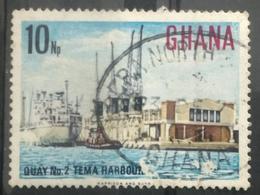 141. GHANA USED STAMP TEMA HARBOR,SHIPS - Ghana (1957-...)