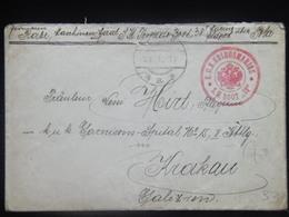 33 Austria KuK K.u.K. Marine SMS S.M.S. Navy Pola Kriegsmarine Ship Schiff Stamp Stampel 1917 S M B Boot S.M.B. 38 Brief - Guerre