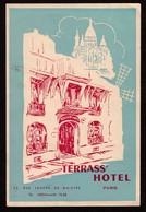 """Hotelaufkleber Etiquette Pour Valise """" Paris Terrass' Hotel Montparnasse """" Luggage Label Adesivi Per Hotel - Adesivi Di Alberghi"""