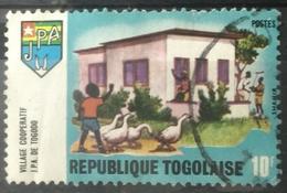 141. TOGO USED STAMP VILLAGE COOPERATIVE, DUCKS. - Togo (1960-...)