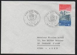 """TAAF 1988 Patrouilleur """"Albatros"""" N° PA 84  Enveloppe 1er Jour -  Base Alfred Faure - 2 Juillet 1984 - Corréo Aéreo"""