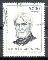 Timbre Oblitéré - Argentine / Republica Argentina - Guillermo Brown - (2) - Argentinien