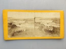 1880 Photo Privée Carte Stéréoscopique Stéréo Lyon Vue Du Parc De La Tête D'Or Début 3ème République Canuts - Lyon