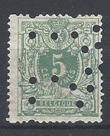 Nr 45 Gestempeld Perfin Bolletjes - Lochung