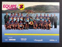 Equipe Z - 1992 - Carte / Card - Cyclists - Cyclisme - Ciclismo -wielrennen - Ciclismo