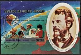 1976 100 Jahre Telefon Block Gestempelt - Guinea-Bissau
