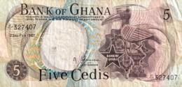 Ghana 5 Cedis, P-11a (23.2.1967) - Fine - Rare Date - Ghana